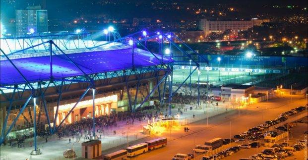 Возле стадиона «Металлист» завтра будет запрещено движение транспорта