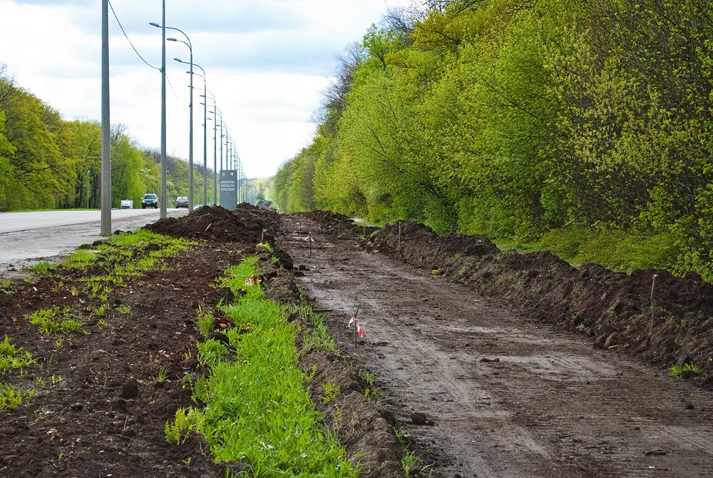В Харькове начали строить современную велодорожку