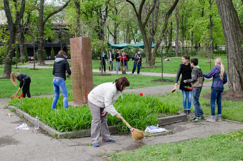 Молодежный парк готовят к мероприятиям, посвященным 30-й годовщине Чернобыля