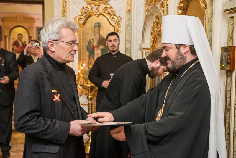 Харьковским ликвидаторам аварии на ЧАЭС вручили награды Украинской Православной Церкви