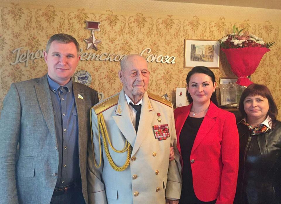 Героя Советского Союза Федора Пуртова поздравили с Днем победы