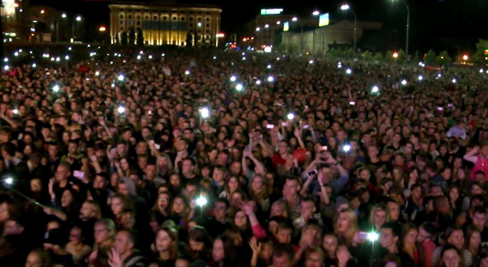 На площади Свободы прошел концерт, посвященный Дню города