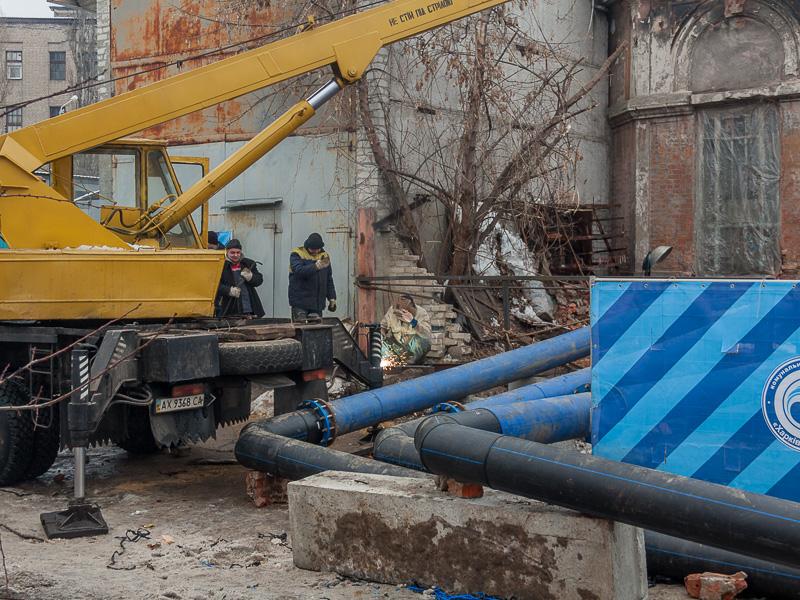 На «Харківводоканалі» створено штаб з ліквідації аварії на вулиці Греківській