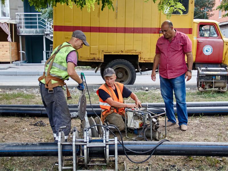 На вулиці Культури міняють мережі водопостачання