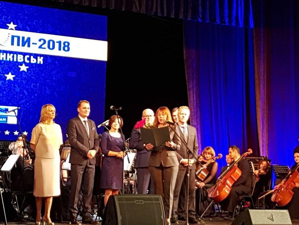 Харків привітав Івано-Франківськ з нагородженням Призом Європи