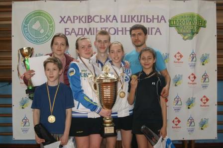 Визначилися переможці шкільної бадмінтонної ліги