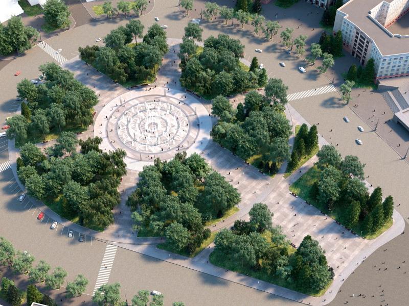 Який буде мати вигляд фонтан на площі Свободи (фото)
